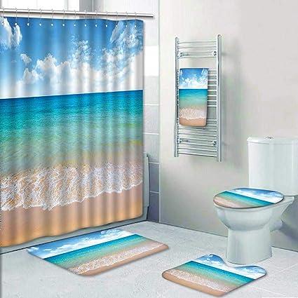 Amazon Com 5 Piece Bath Rug Set Season Scenic View Exotic