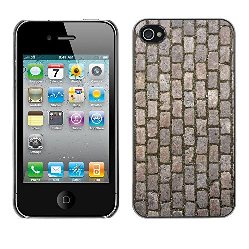 Premio Sottile Slim Cassa Custodia Case Cover Shell // V00002026 Cobblestone texture // Apple iPhone 4 4S 4G
