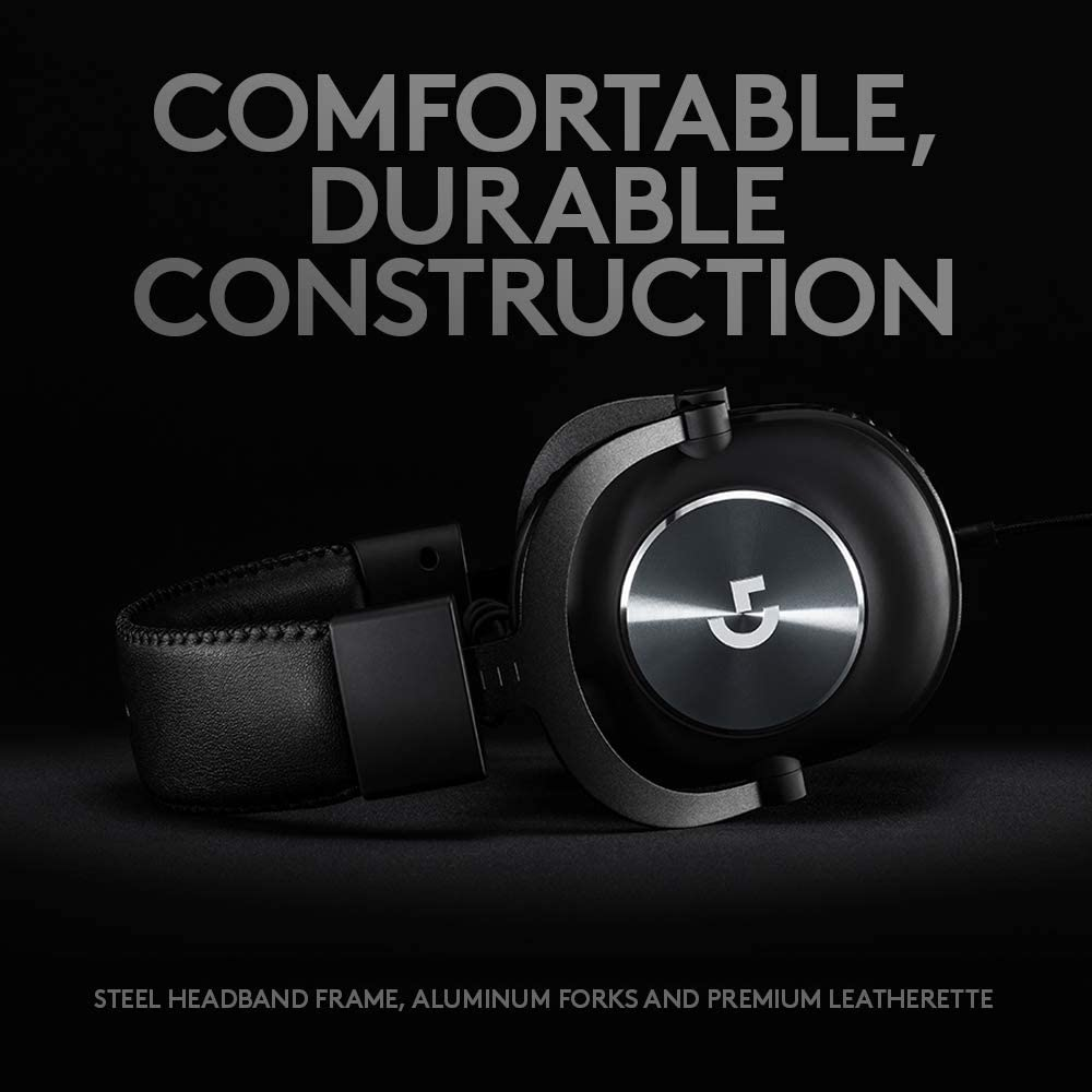 Logitech PRO Gaming Headset 2nd Generation Comfortable and Durable with PRO-G Audio Drivers Aluminum Steel and Memory Foam for PS4 Switch Xbox One Black
