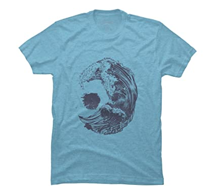 863e459e82f5 Swell Men's Small Sky Blue Heather Graphic T Shirt - Design By Humans