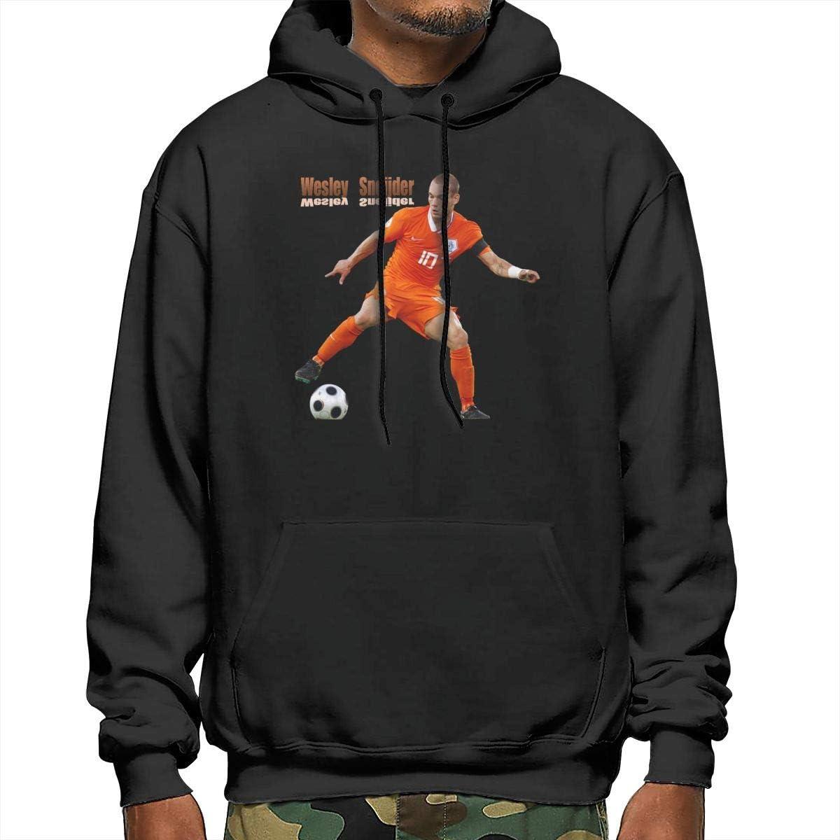 EVE JOHN Black Wesley Sneijder Hoodie Hood Cartoon Hoodies for Man