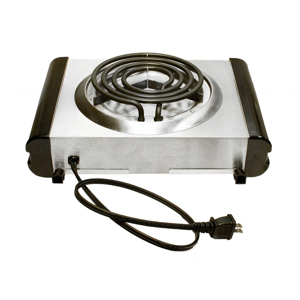 Amazon.com: 120V Portable Electric Single Burner Camper Camping Stove Cooker 120V 1000W Satin Finish: Kitchen & Dining