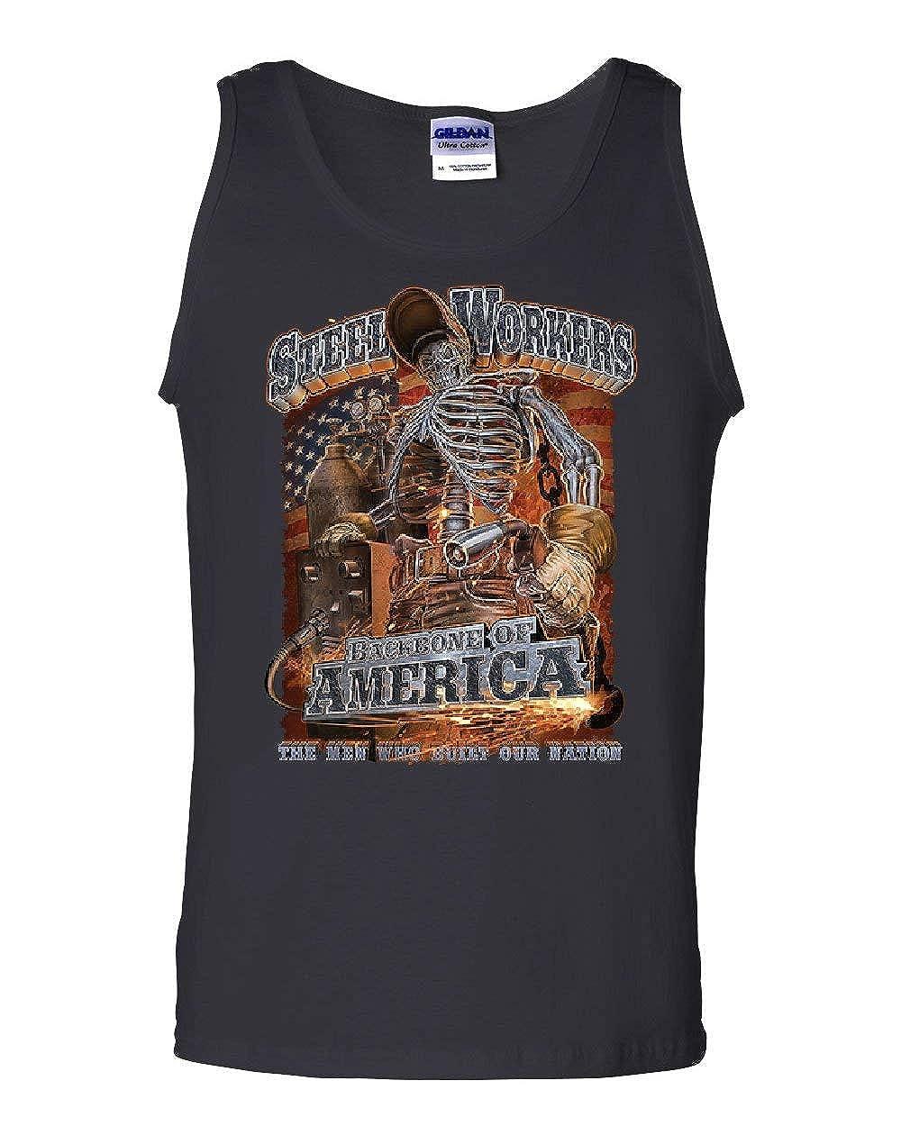 Steel Workers Backbone of America Tank Top Welding Iron Metal Sleeveless