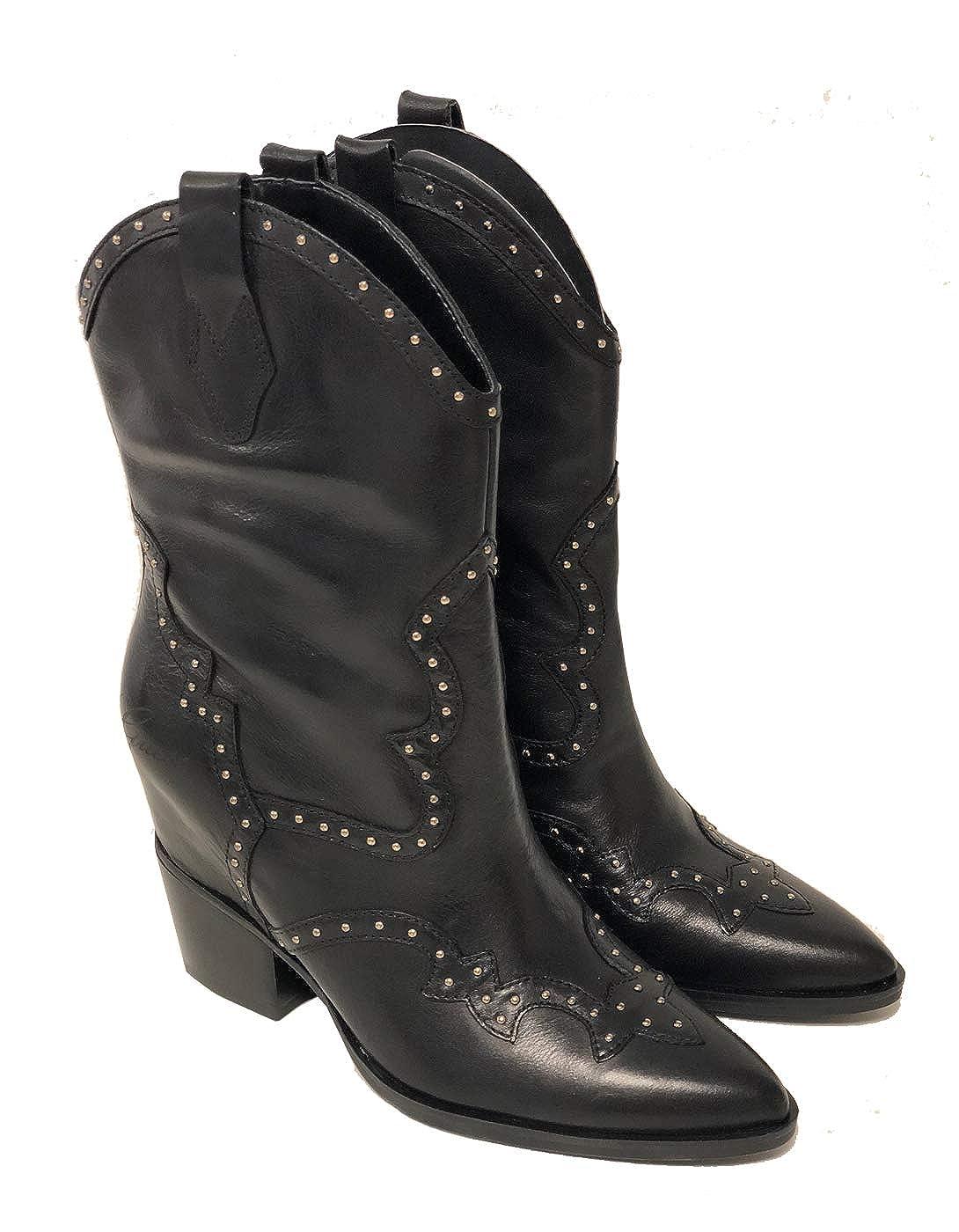 GUESS Botas Camperas Cowboy cuña Interior LAURIEN (36 - Rojo): Amazon.es: Zapatos y complementos