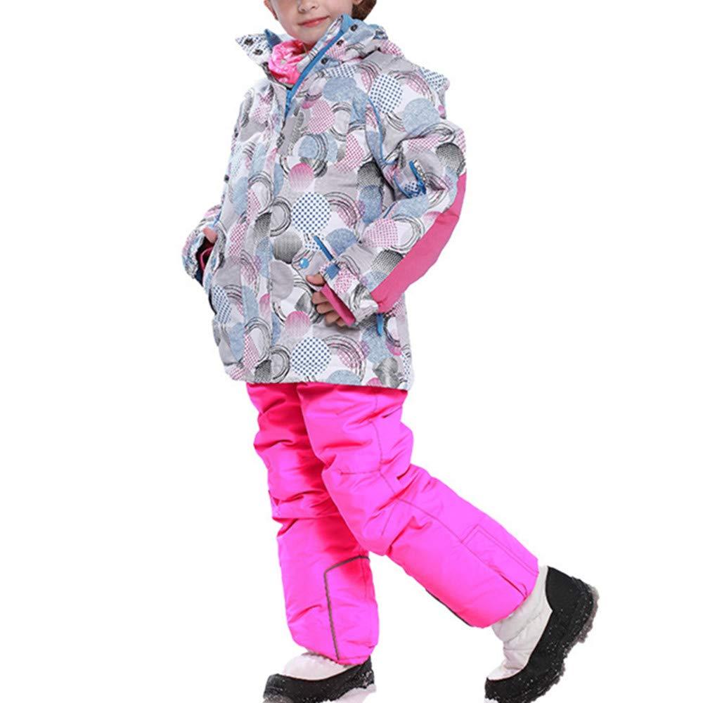 Engrosado Chaqueta de esquí con Capucha Impermeable para el ...