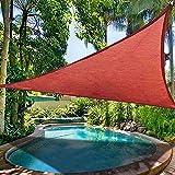 16.5' Triangle Sun Shade Sail Patio Deck Beach Garden Yard Outdoor Canopy Cover 95% UV Protection Blocking