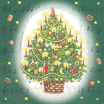 Tannenbaum Lied.Avancarte Gmbh Servietten Weihnachten Winter Motiv Lied Tannenbaum 20er Cocktail 3 Lagig 25x25cm