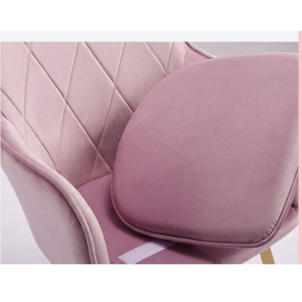 HEJINXL Matstolar, vintage köksbänk stolar lounge fritid vardagsrum hörnstolar med metallben sammet oberoende kudde (färg: G) c