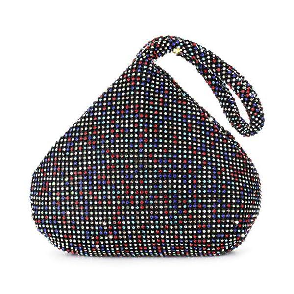 BABEYOND 1920s Flapper Handbag Clutch 20s Gatsby Crystal Evening Clutch Bag