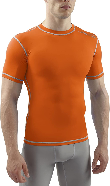 Orange Sub Sports Dual All-Season Compression Short Sleeve Top Adult