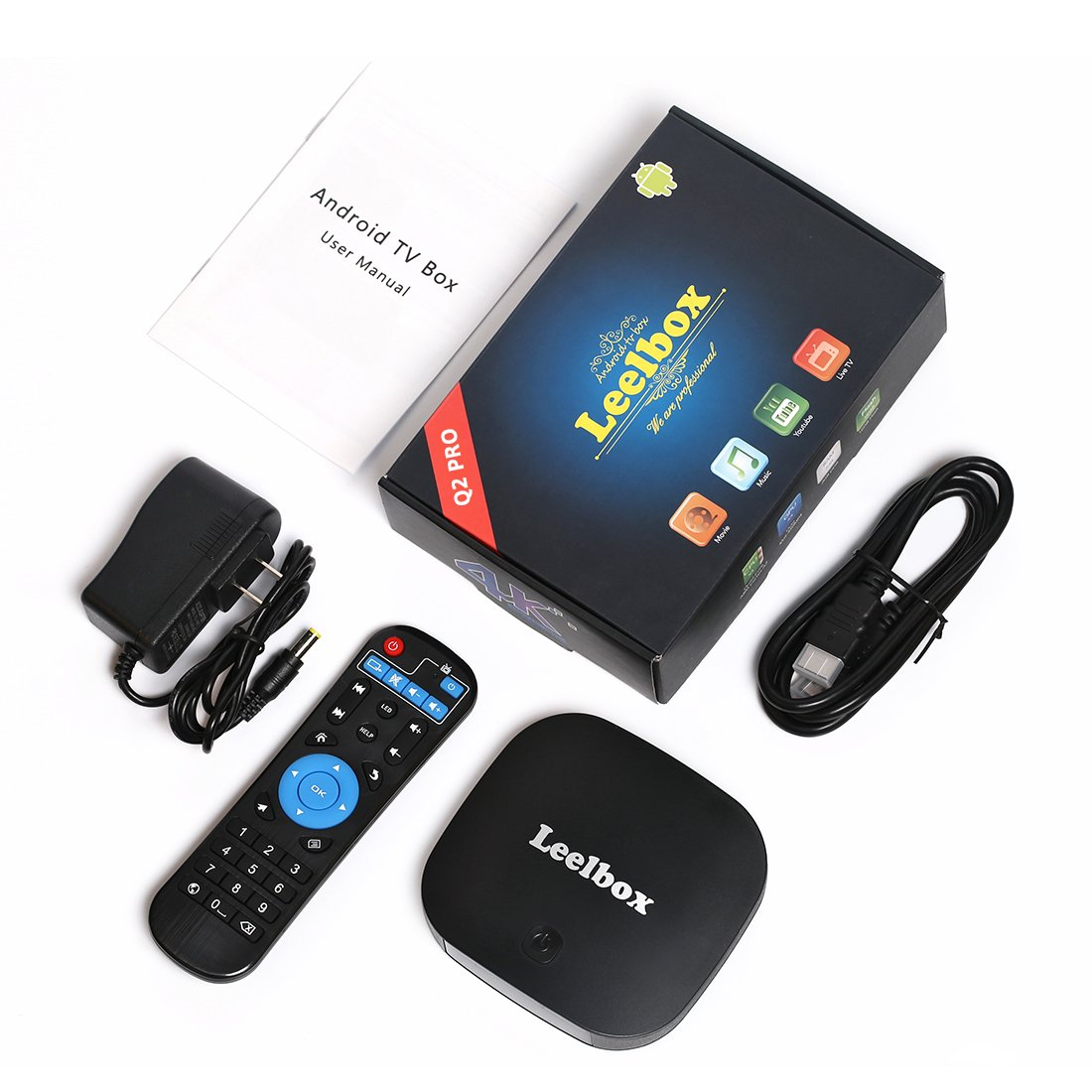 [2018 Edition] Leelbox Q2 pro Android 7.1 TV Box 2GB+16GB Dual-WiFi 2.4GHz/5GHz with BT 4.0 Supporting 4K (60Hz) Full HD by Leelbox (Image #8)