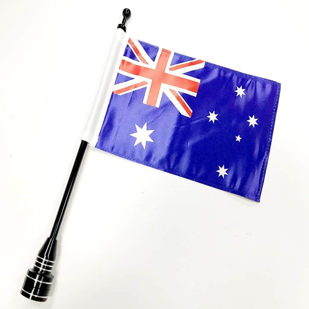 Amazon.es: Bandera de motocicleta Poste Bandera para Harley Davidson Yamaha (Negro Bandera de la motocicleta Polo Mount + Australia Bandera)