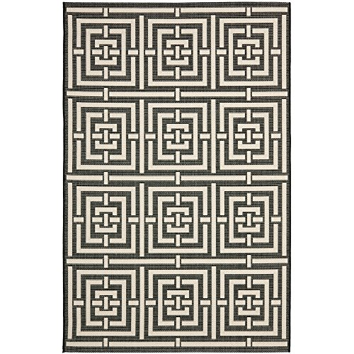 Bone 12x12 (Safavieh Courtyard Collection CY6937-26 Black and Bone Indoor/ Outdoor Area Rug (9' x 12'))