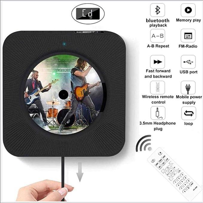 El diseño creativo interruptor de tracción de cable, tire el interruptor para iniciar la reproducción, la pantalla montada en la pared reproductor de CD, reproductor de CD con Bluetooth (2 piezas),B: Amazon.es: