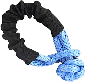 Leadrise Synthetic Soft Shackle Rope 1/2 Inch X 22 Inch (38,000lbs Breaking Strength) Soft Shackle Recovery Rope for Sailing SUV ATV 4X4 Truck Jeep Recovery Climbing Towing (Blue)