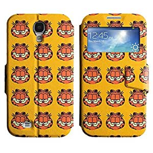 Be-Star Colorful Printed Design Slim PU Leather View Window Stand Flip Cover Case For Samsung Galaxy S4 IV / i9500 / i9505 / i9505G / SGH-i337 ( Smiling Garfield ) Kimberly Kurzendoerfer