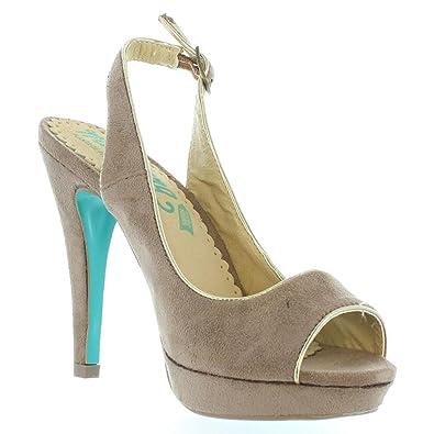 Zapatos De Tacón De Mujer Mtng 55211 Afelpado Piedra-Oro Talla 40 K5O6jfALu