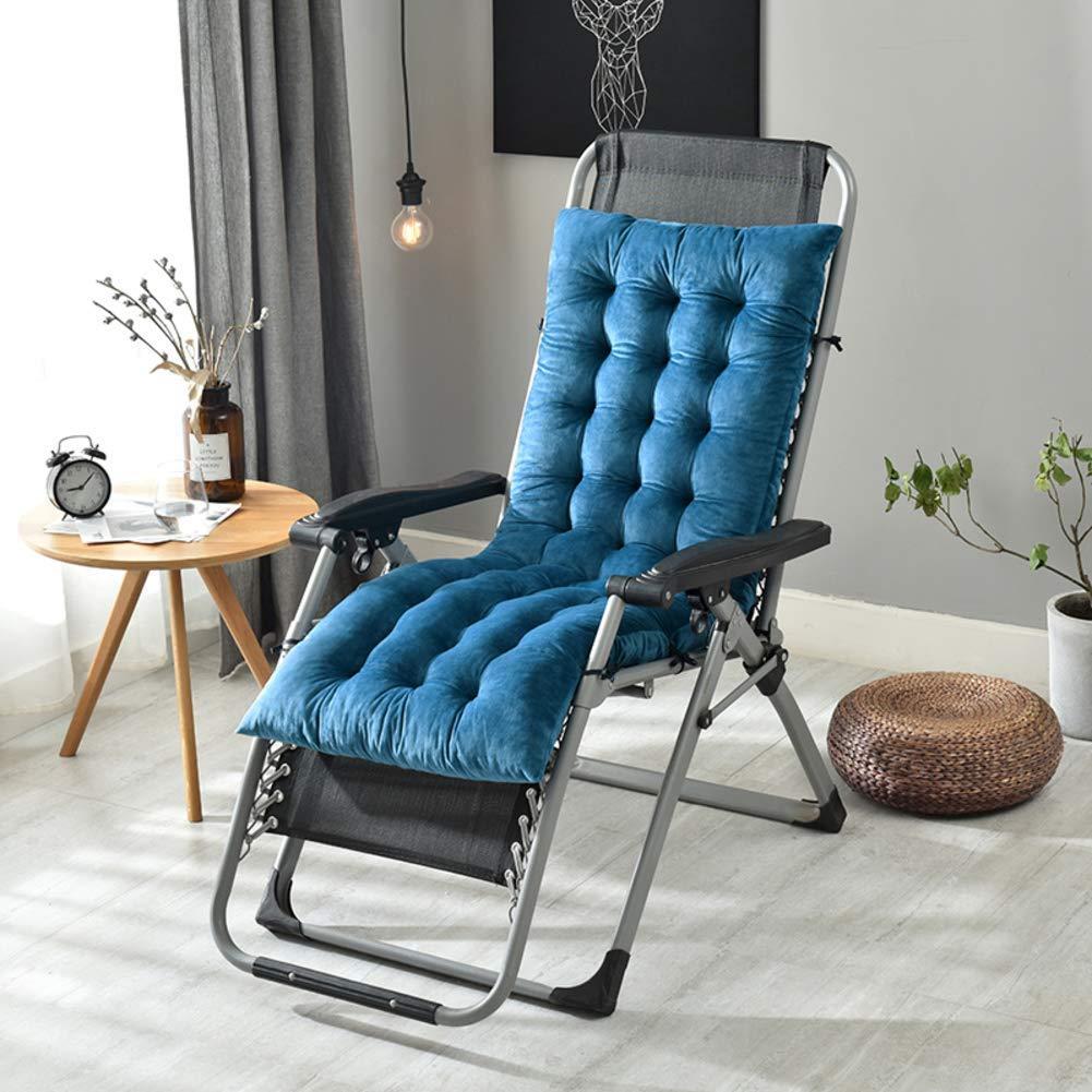 ZGYQGOO Lounge-Chaise-Kissen, Terrasse Liegestuhl Kissen, Sonnenliege Matratze, verdickt für Garten Outdoor Indoor Sofa Tatami Auto Bank (nur Kissen) -royal Blau 130x50x10cm (51x20x4inch)