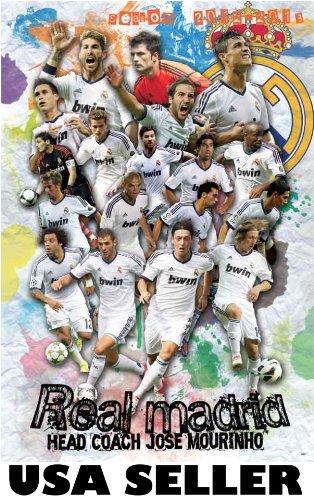Real Madrid 2012-13 player burst POSTER 23.5 x 34 Xabi Alonso Kaka Cristiano Ronaldo Iker Casillas Spain soccer football team (sent FROM USA in PVC - Madrid Real Kaka
