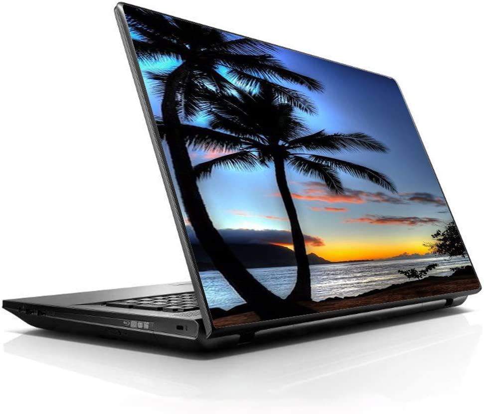 "15 15.6 inch Laptop Notebook Skin Vinyl Sticker Cover Decal Fits 13.3"" 14"" 15.6"" 16"" HP Lenovo Apple Mac Dell Compaq Asus Acer Paradise Sunset Palm Trees"