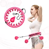 NGC-C Weighted Hula Hoop for Adults Beginners do not Fall,24 Knots, Abdomen Fitness Increase Beauty, 2 in 1 Fitness…