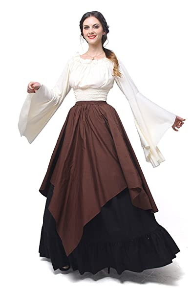 Amazon Womens Renaissance Medieval Costume Dress Gothic