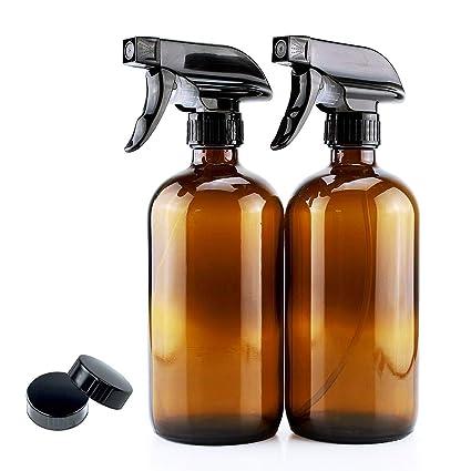 22c021e1dfa Umiskam 2 Pcs 250ML 8oz Empty Spray Bottles Glass