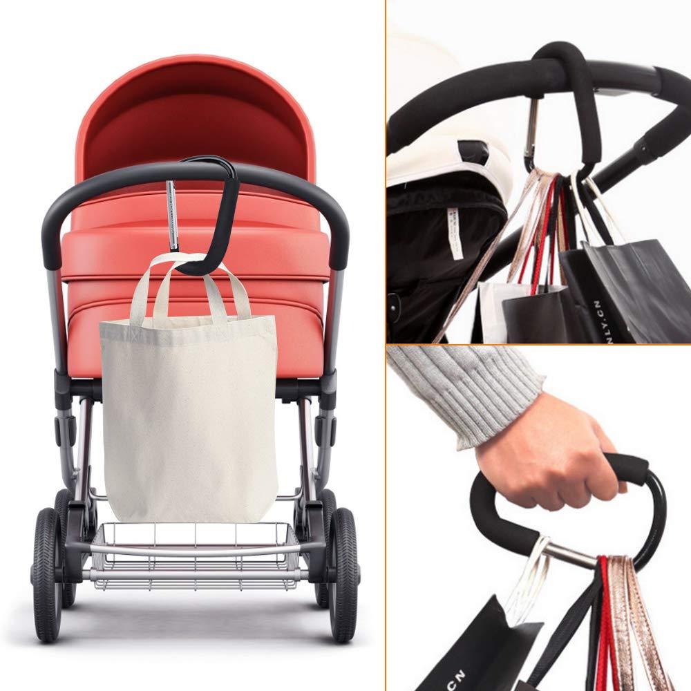 Color You 2 St/ücke Gro/ße Buggy Clips Kinderwagen Sichere Einkaufshaken Kinderwagen Kinderwagen Aluminiumlegierung Haken Kinderwagen Haken