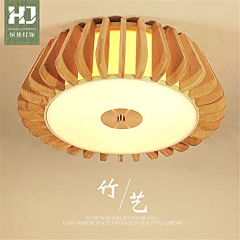 ... Light Japanese Tatami Round Bamboo Ceiling Light Zen Italian Southeast Asian Lamp Chinese Retro Decoration Lighthouse, 500 h150mm - - Amazon.com