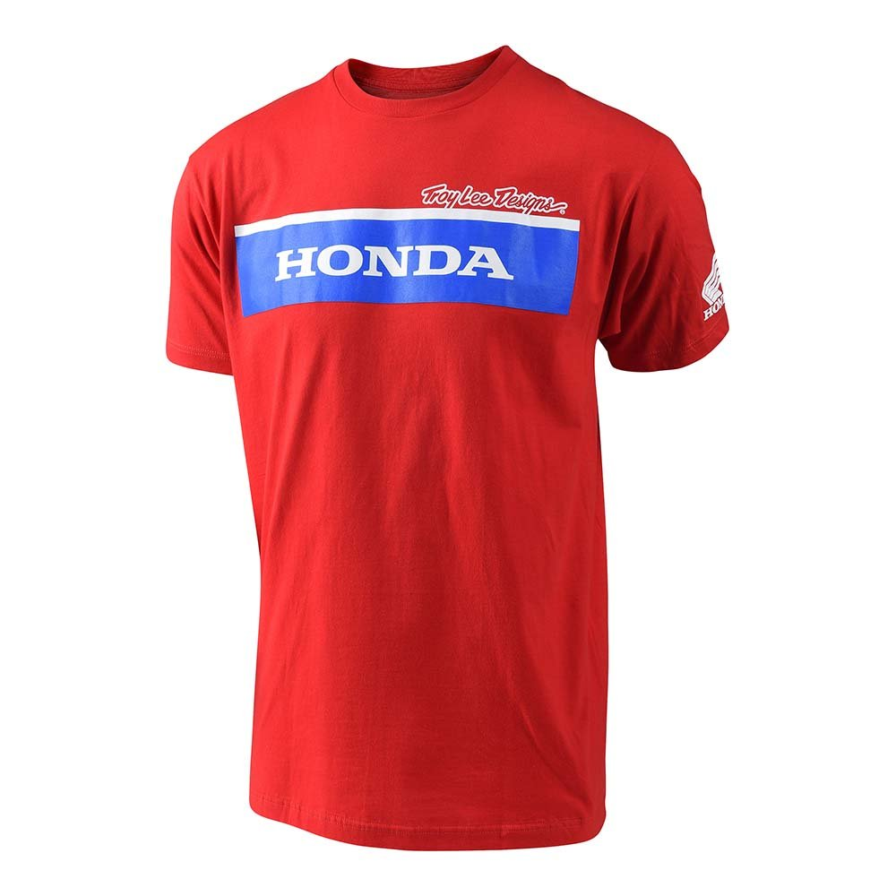 Small, Gray Troy Lee Designs Official Licensed Honda Wing Block Tee