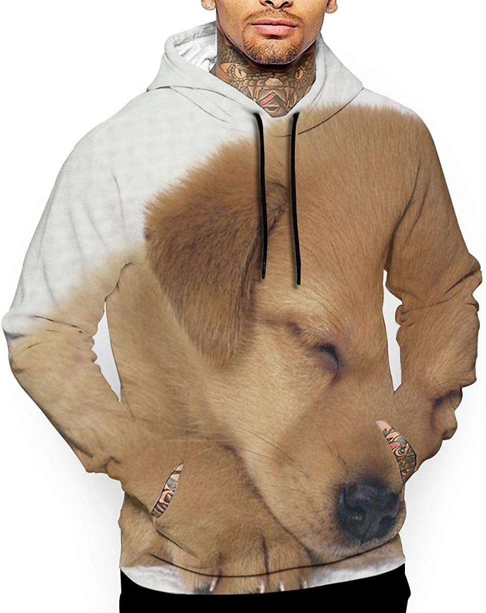 Sleeping Puppy T-Shirt Hooded with A Pocket Rope Hat Customization Fashion Novelty 3D Mens
