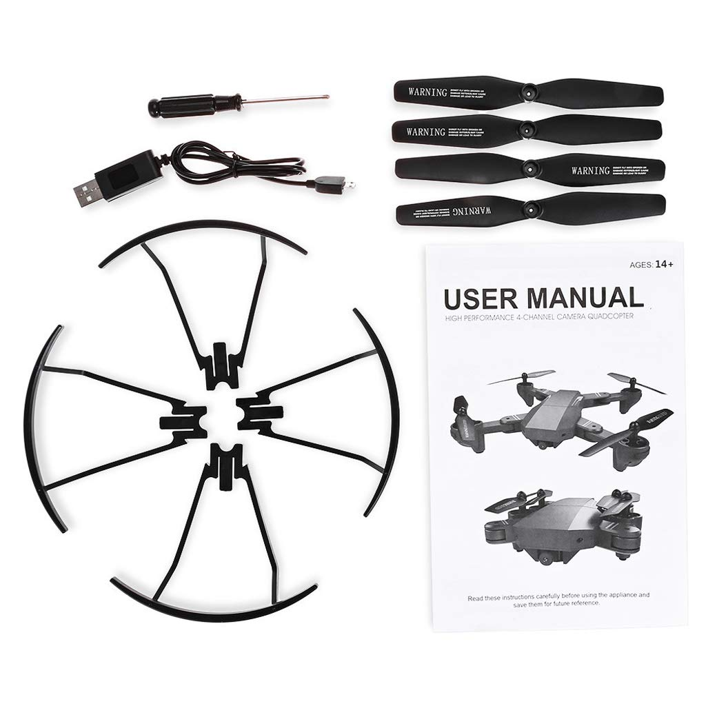 WANG XIN Folding high-Altitude Aerial Drone HD WiFi Real-time Image transmitting Quadcopter Remote Control Aircraft by WANG XIN (Image #6)