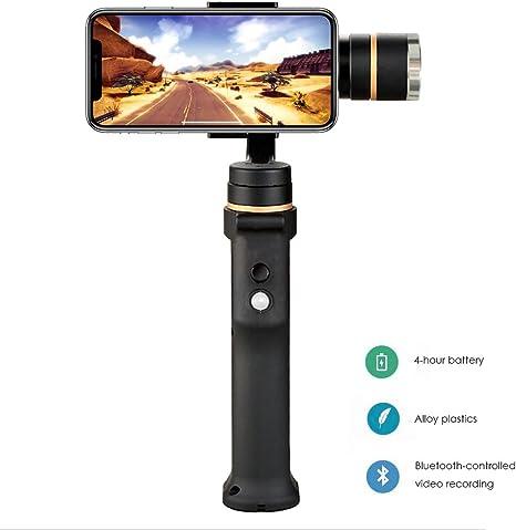 Re Gimbal Estabilizador de 3 Ejes para Smartphones 3,5 Pulgadas a 6 Pulgadas como iPhone X 8 Plus 6 Plus Samsung Galaxy S8 S7 S6 S5 Control inalámbrico Modo panorámico de Disparo Vertical: Amazon.es: Electrónica