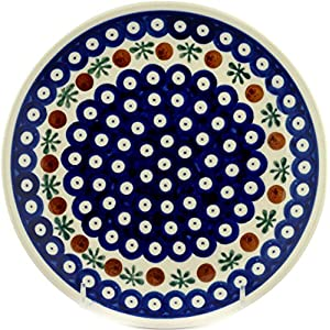 Polish Pottery Boleslawiec Plate, Lunch, 19.5cm in RED DOT pattern