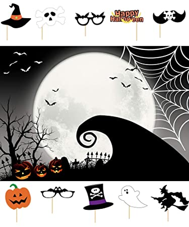 Amazon Com Gray Halloween Pumpkin Photography Background