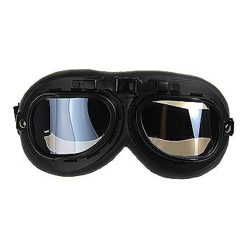 TININNA Gafas Lente Lens Tipo Aviador contra Viento UV para Moto Harley(Negro): Amazon.es: Hogar