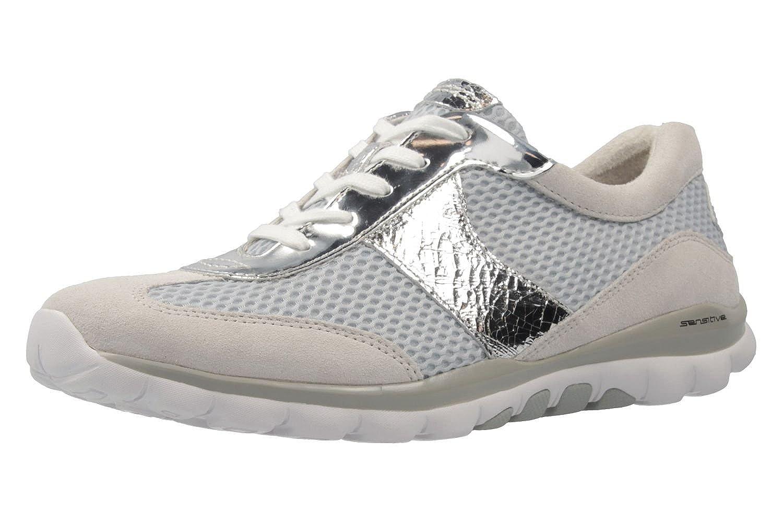 Gabor - Zapatos de cordones de Piel para mujer gris/azul 42 EU