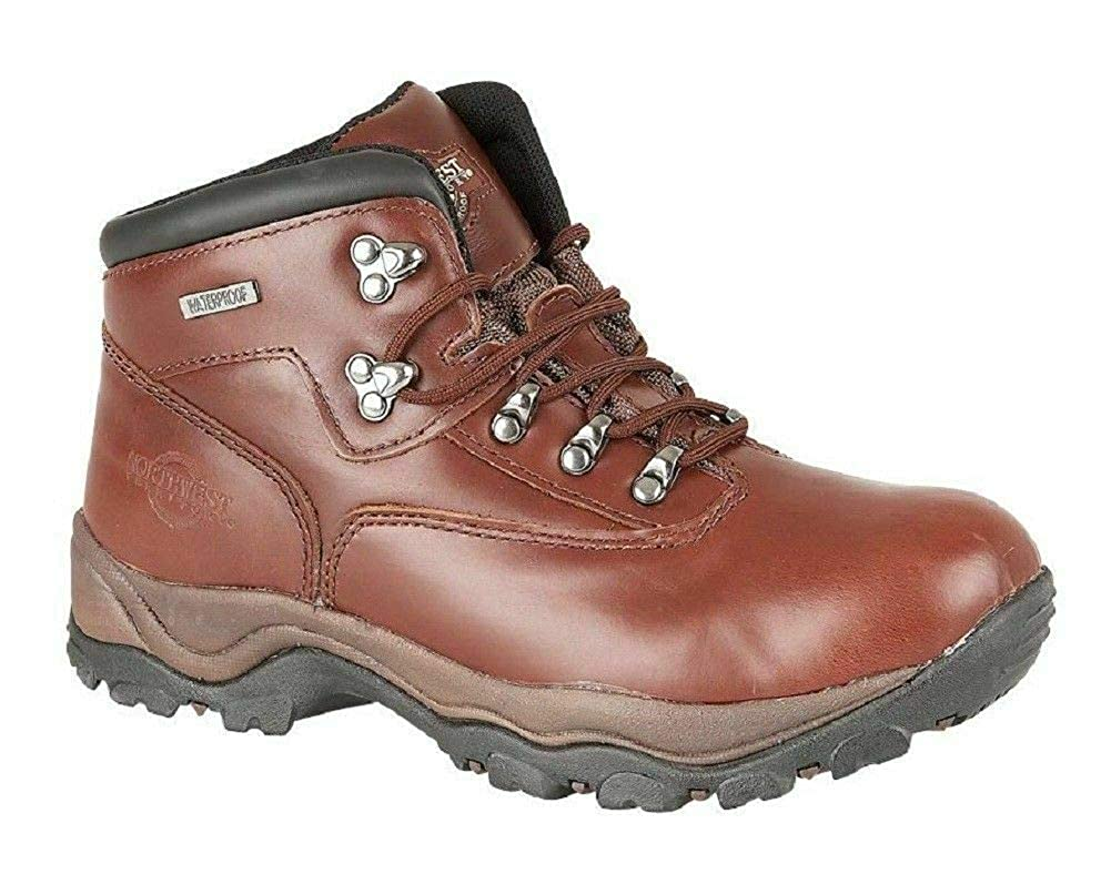 NORTHWEST Men Boots Leather Waterproof Ankle High Rise Shoe Hiking Walking Trail