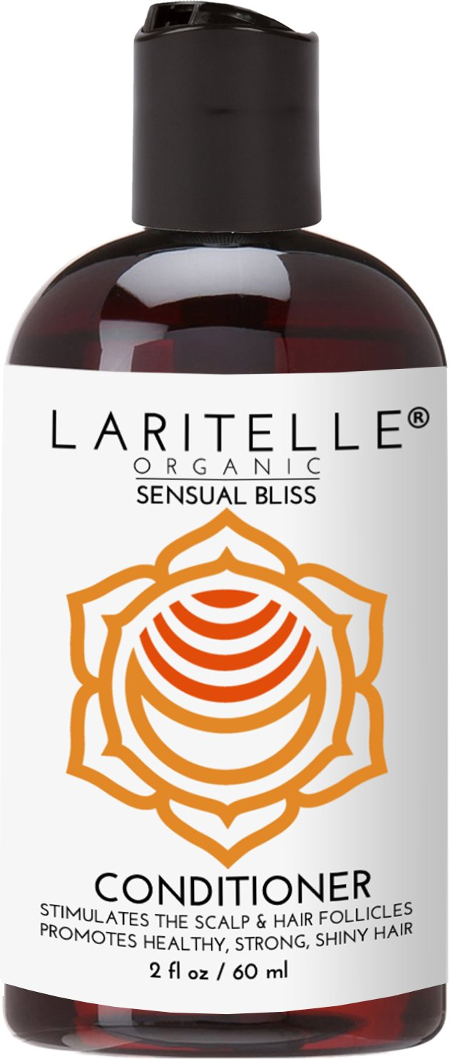 Laritelle Organic Travel Size Conditioner 2 oz | Hair Loss Prevention, Anti-Breakage, Split Ends Treatment | Argan Oil, Rosemary & Palmarosa | NO GMO, Sulfates, Alcohol, Parabens, Phthalates | GF