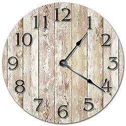Lionkin8 OLD WOOD BOARDS CLOCK - FARMHOUSE CLOCK - Large 12 Wall Clock - Home Decor Clock