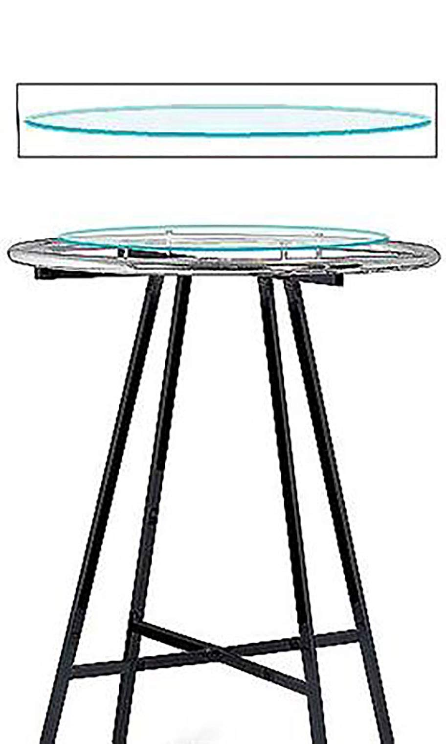 Glass Round Clothing Rack Topper (30'' Diameter Tempered Glass)