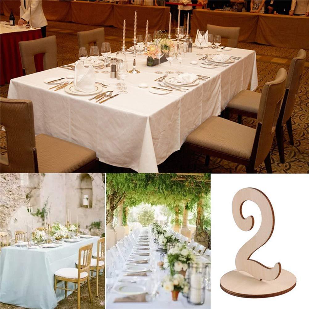 Topbathy Numeri Tavoli In Legno Per Matrimonio 1 20 Segnaposto Segnatavolo Decorazioni Matrimoni Tavoli Casa E Cucina Stoviglie