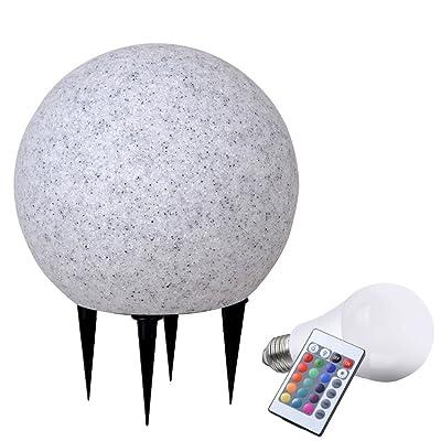 Boule lumineuse LED RVB 6 W jardin luminaire extérieur lampe DEL ...