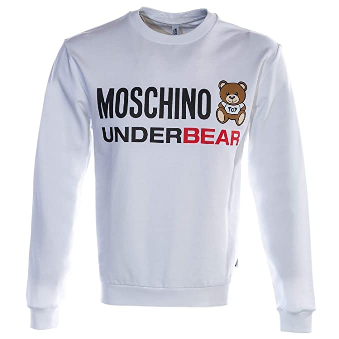 a93fc6f4e617f Moschino Underbear Sweat Top in White XL: Amazon.co.uk: Clothing