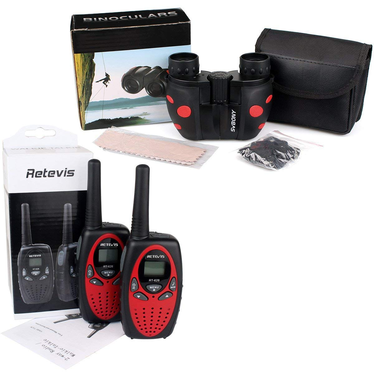 Retevis RT628 Kids Walkie Talkies 22 CH FRS (2 Pack) and Kids Binocular for Outdoor Play Toy Walkie Talkies for Boys and Girls(1 Pack) by Retevis (Image #8)