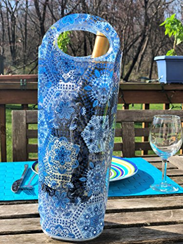 Portable Wine Chiller Bag - Cooler Tote uses Ice & Water, No Freezing Needed, Best Gift Bag for Women & Men, Take Wine to Go & Outdoors, Keep Wine Insulated ()