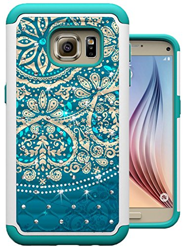 Cheap Cases S7 Case, Galaxy S7 Case, MagicSky [Shock Absorption] Studded Rhinestone Bling Hybrid..