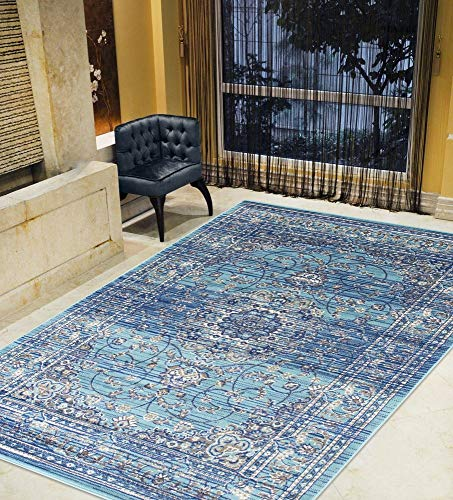 Kashan Navy Area Rug - Silver/Gray/Navy Blue/Turquoise-Faded, Oriental Distressed Area Rug Vintage Persian Area Rug Abstract,Kashan Persian Rug