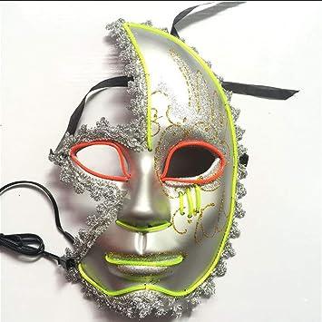ZHCS Máscaras LED de Halloween, Disfraz Terrible para Fiestas de ...