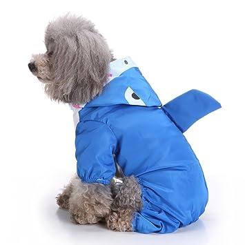 Amazon.com: s-lifeeing mascota perro chubasquero perrito ...